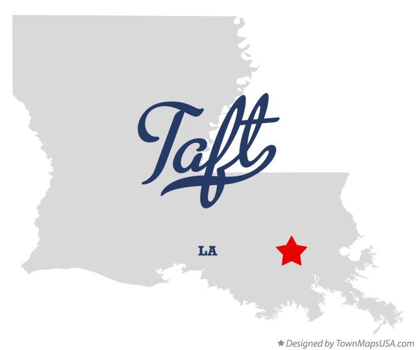 Map of Taft Louisiana LA