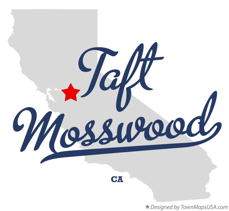 Map of Taft Mosswood California CA