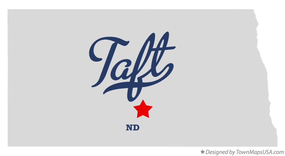 Map of Taft North Dakota ND