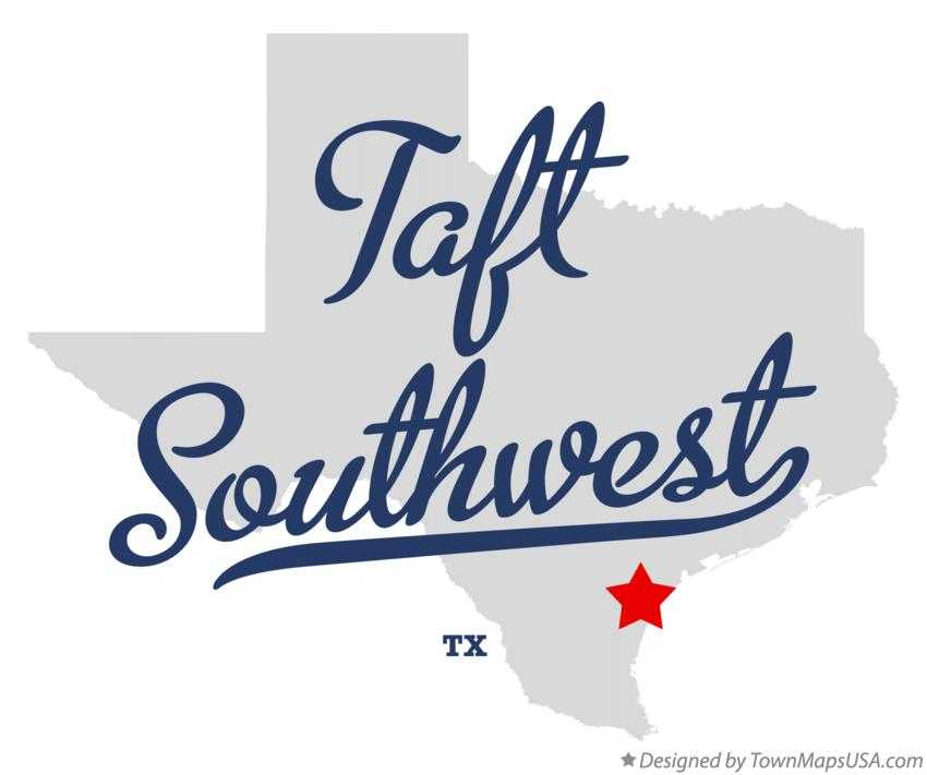 Map of Taft Southwest Texas TX