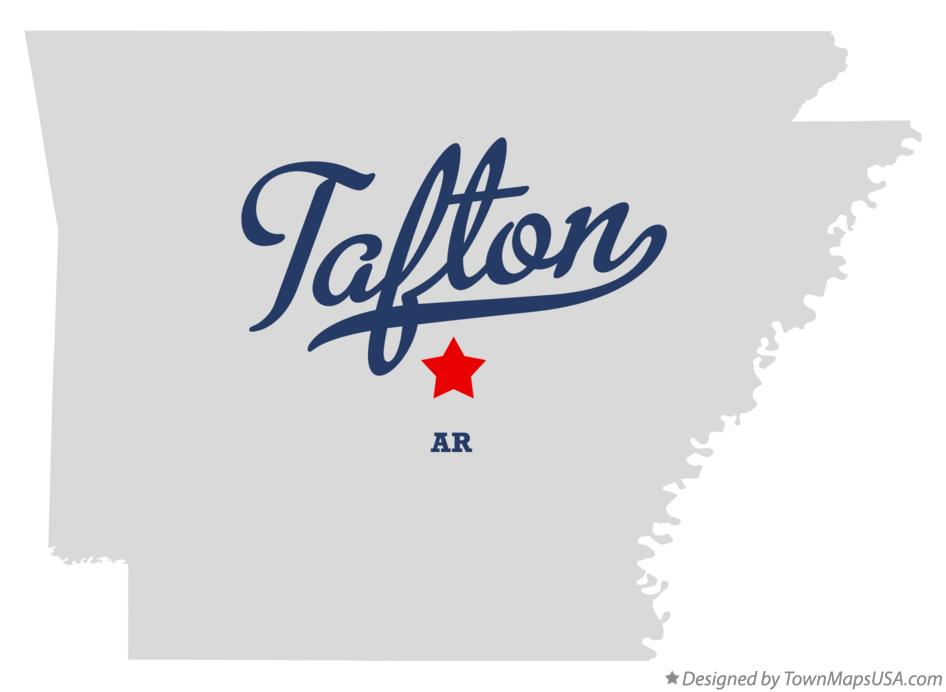 Map of Tafton Arkansas AR