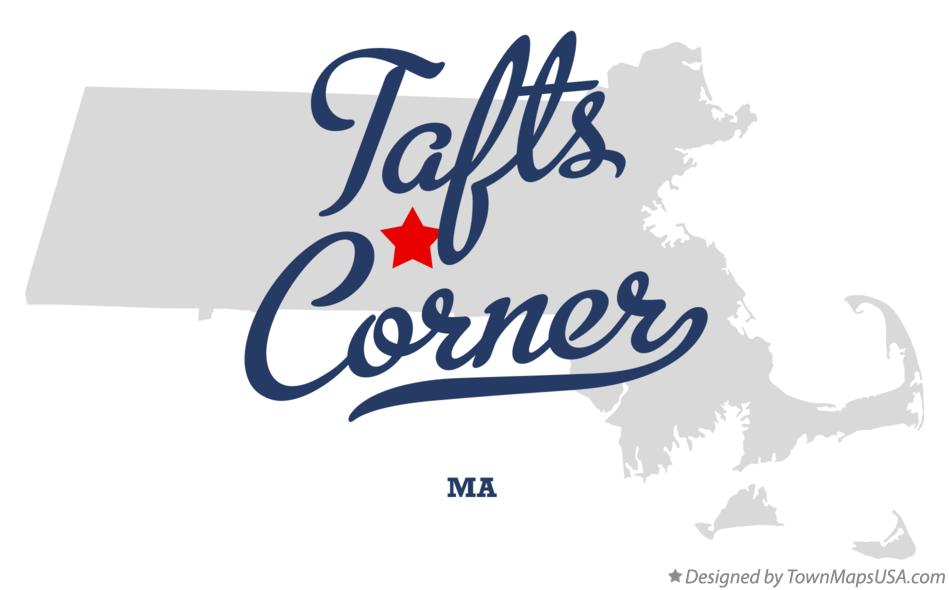 Map of Tafts Corner Massachusetts MA