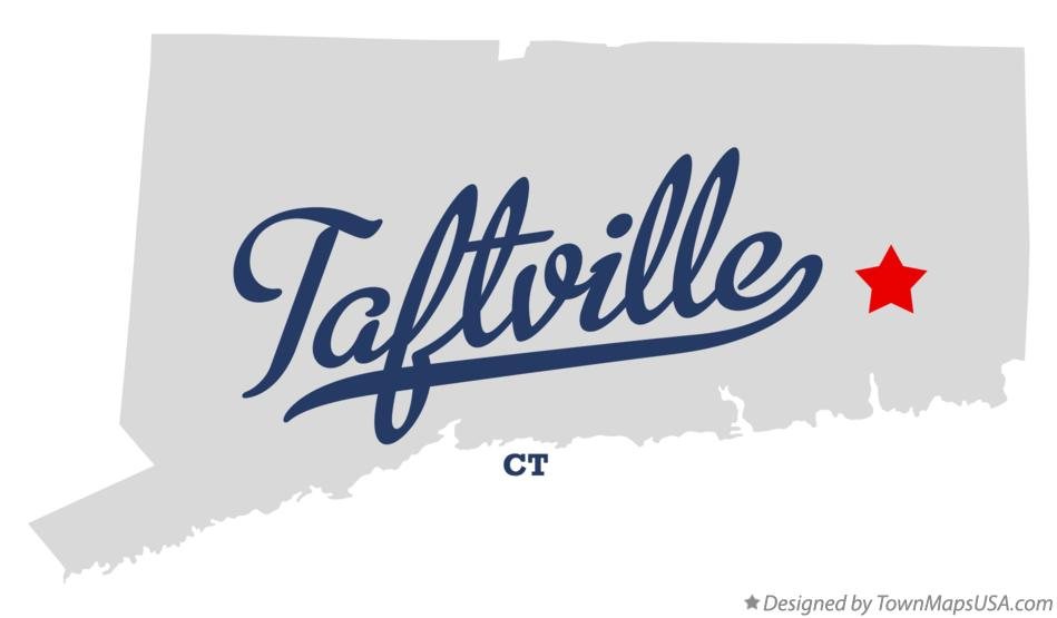 Map of Taftville Connecticut CT