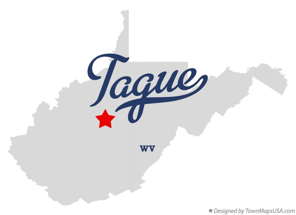 Map of Tague West Virginia WV