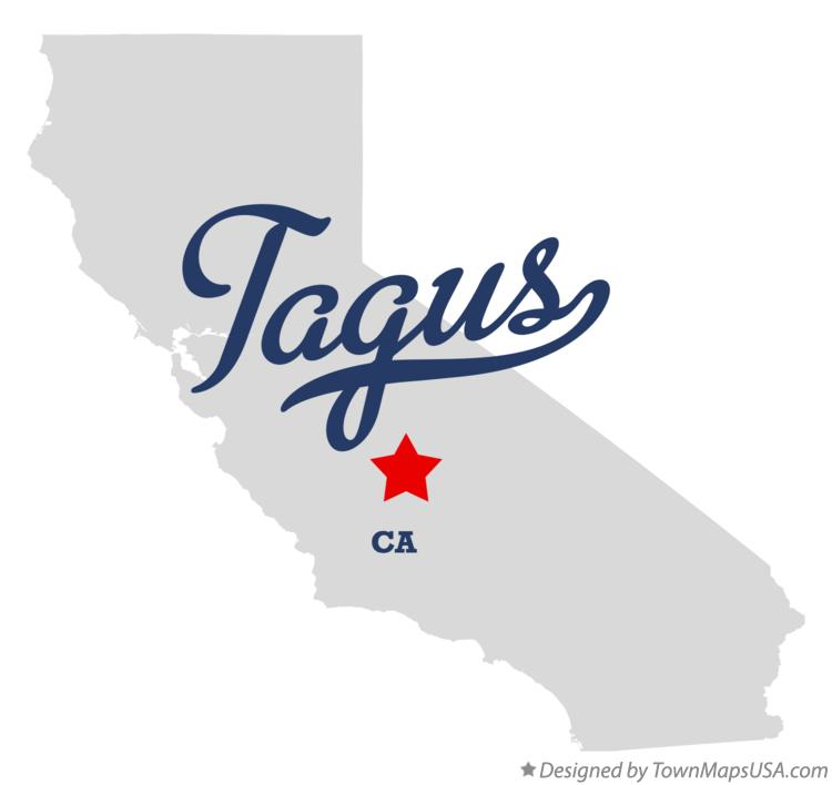 Map of Tagus California CA