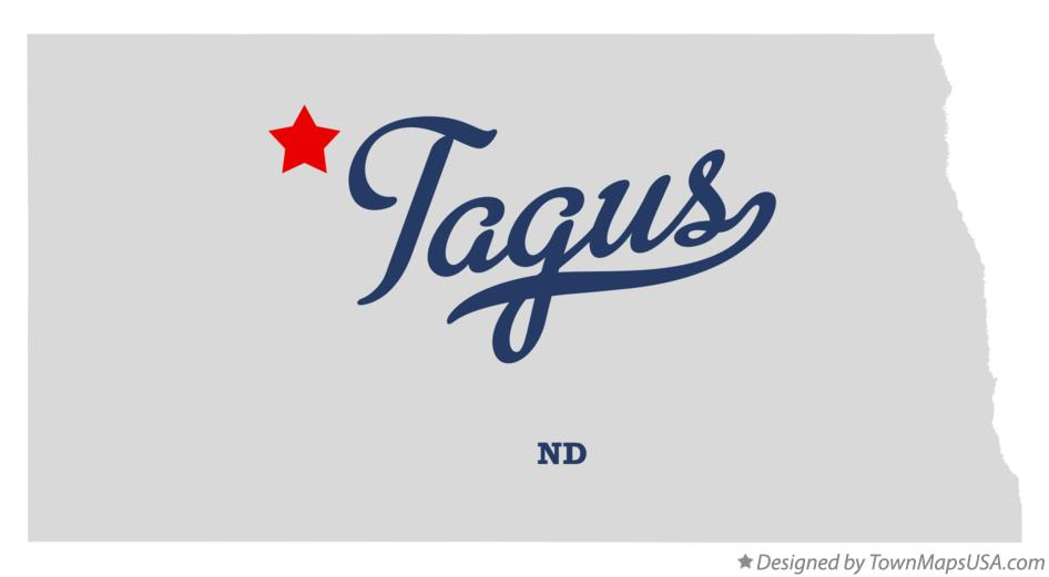 Map of Tagus North Dakota ND