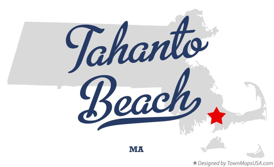Map of Tahanto Beach Massachusetts MA