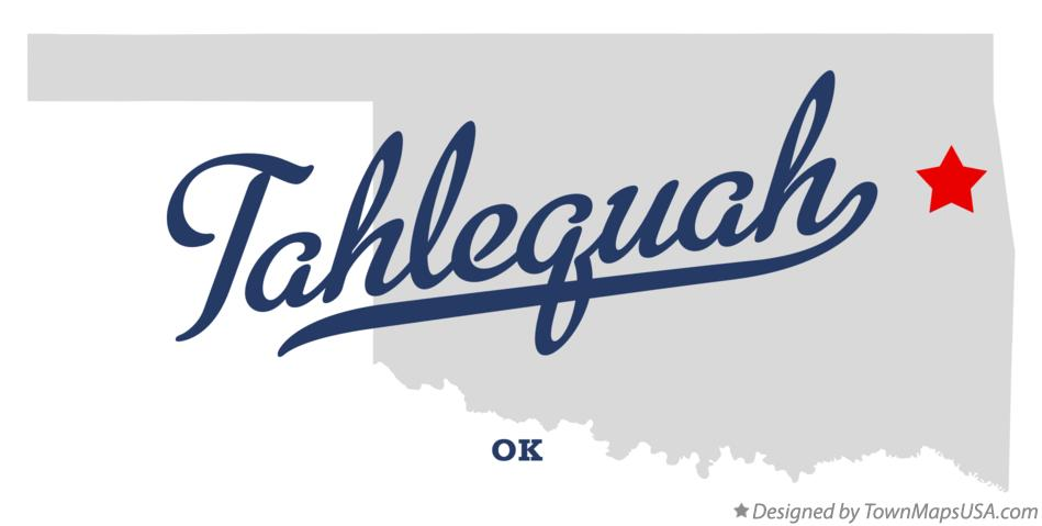 Map of Tahlequah Oklahoma OK