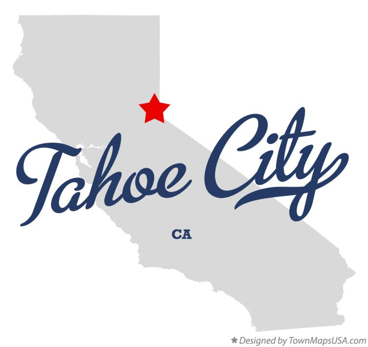 Map of Tahoe City California CA