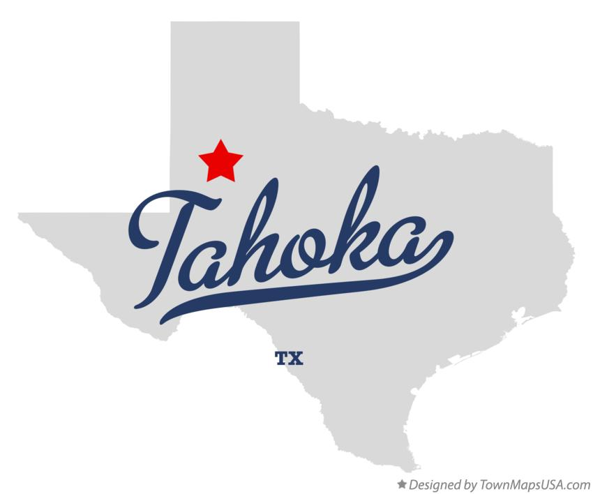Map of Tahoka Texas TX