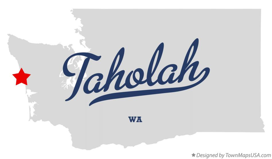 Map of Taholah Washington WA