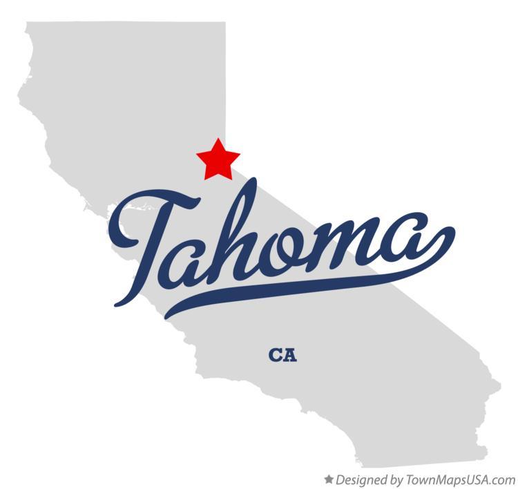 Map of Tahoma, CA, California Tahoma Ca Map on