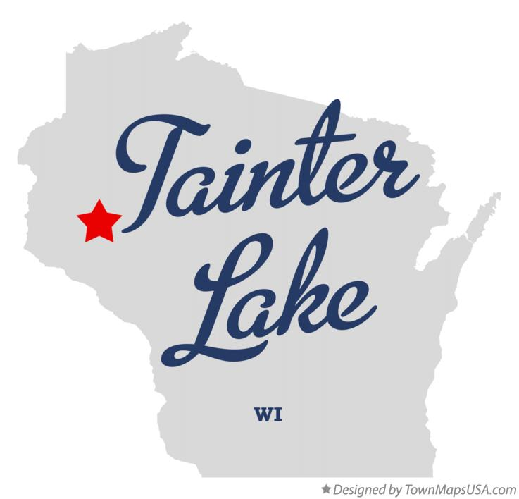 Map of Tainter Lake Wisconsin WI