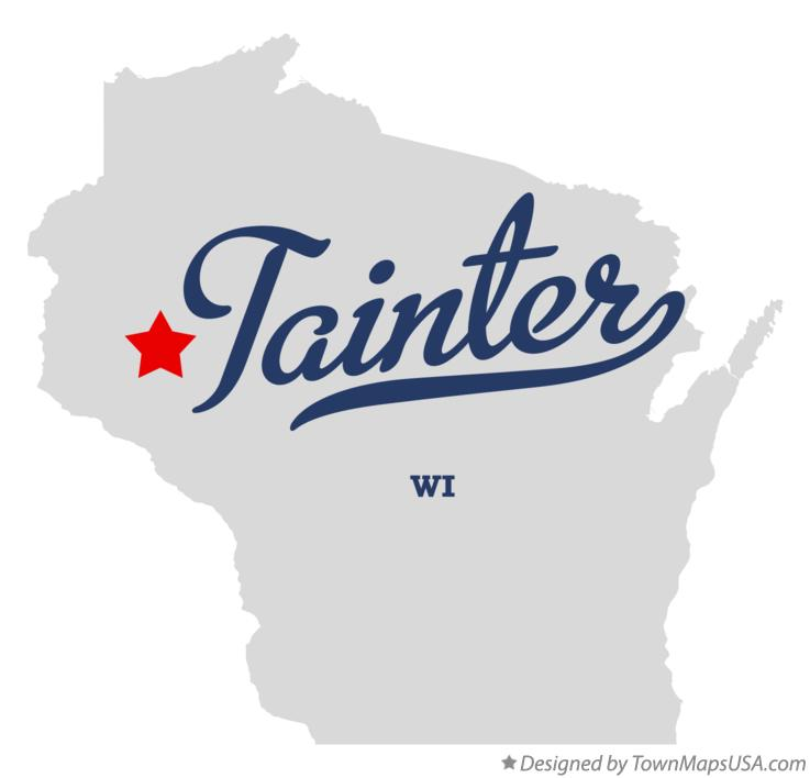 Map of Tainter Wisconsin WI