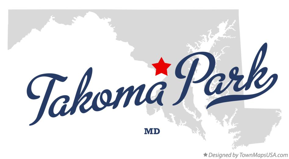 Map of Takoma Park Maryland MD