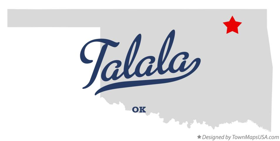 Map of Talala Oklahoma OK