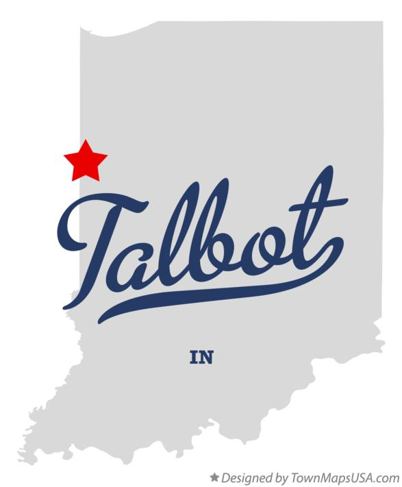 Map of Talbot Indiana IN