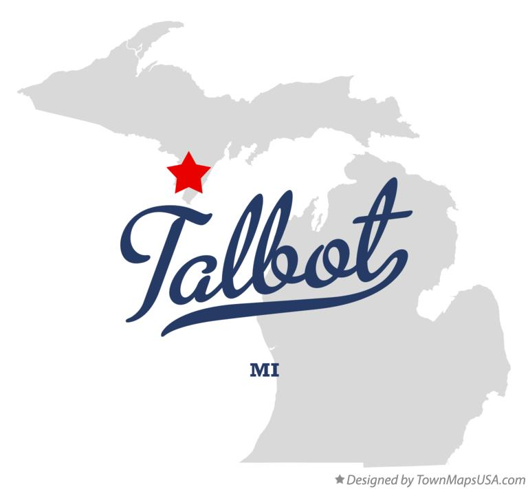 Map of Talbot Michigan MI