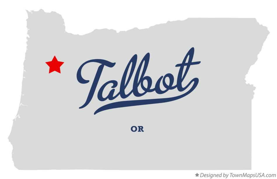 Map of Talbot Oregon OR