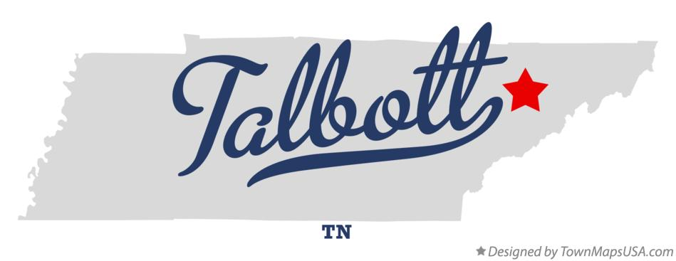 Map of Talbott Tennessee TN