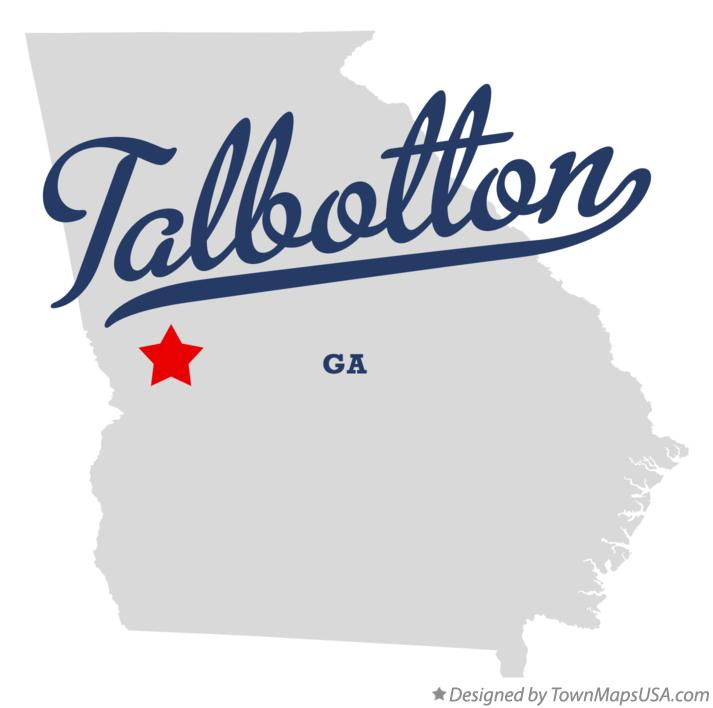 Map of Talbotton Georgia GA