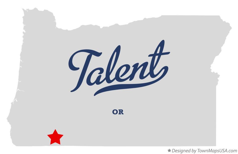 Map of Talent Oregon OR