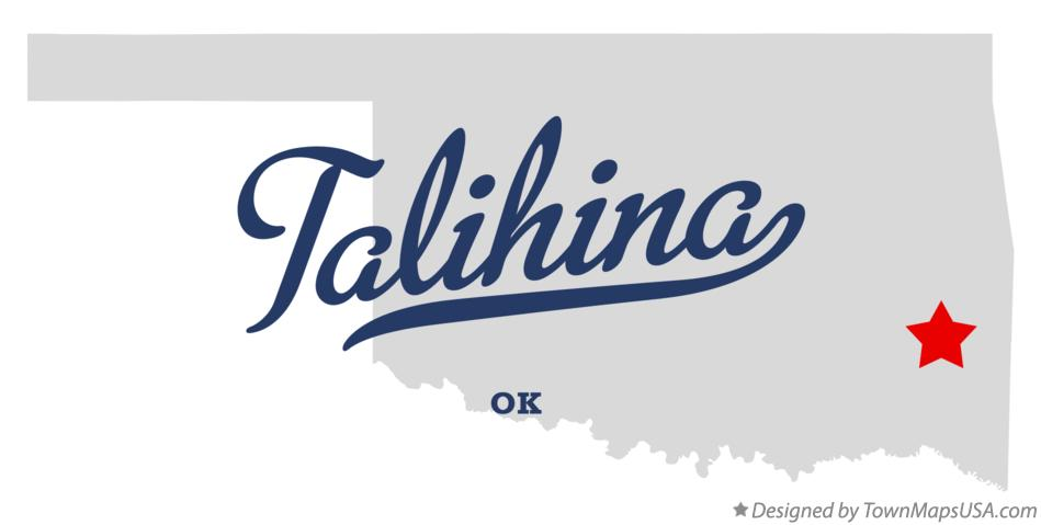 Map of Talihina Oklahoma OK