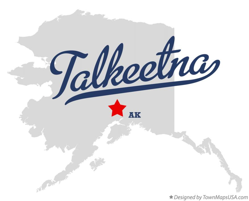 Map of Talkeetna Alaska AK
