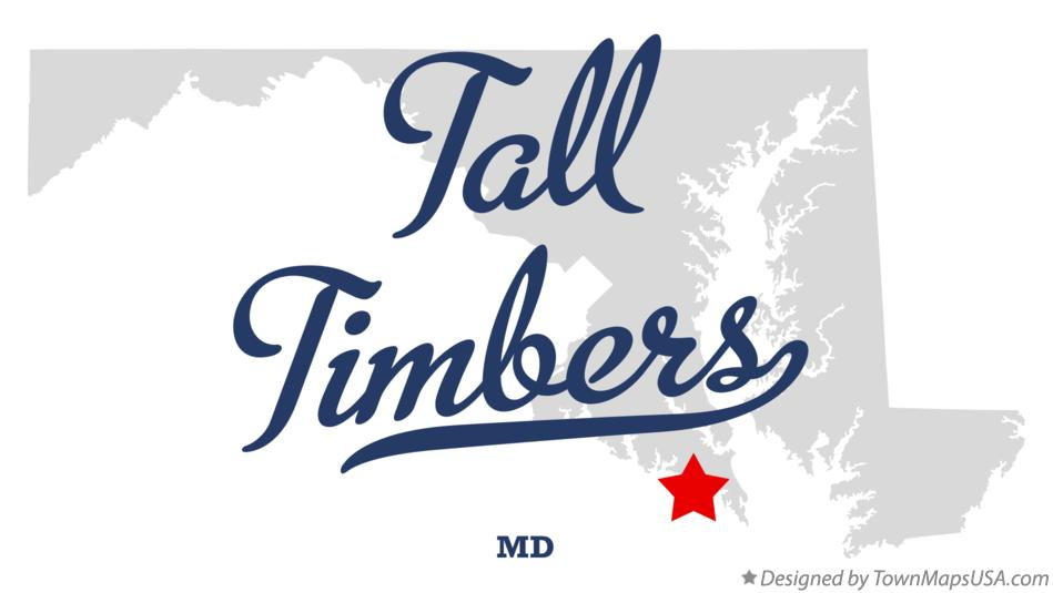 Map of Tall Timbers Maryland MD