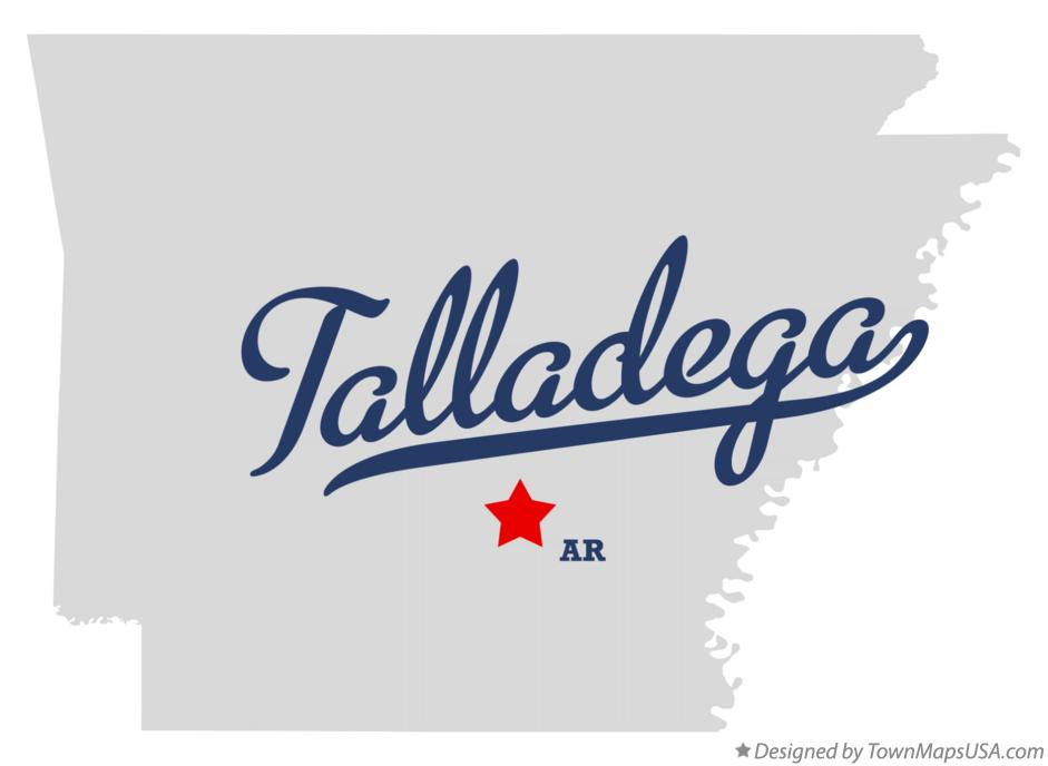 Map of Talladega Arkansas AR