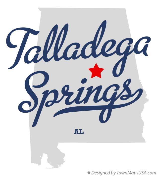 Map of Talladega Springs Alabama AL