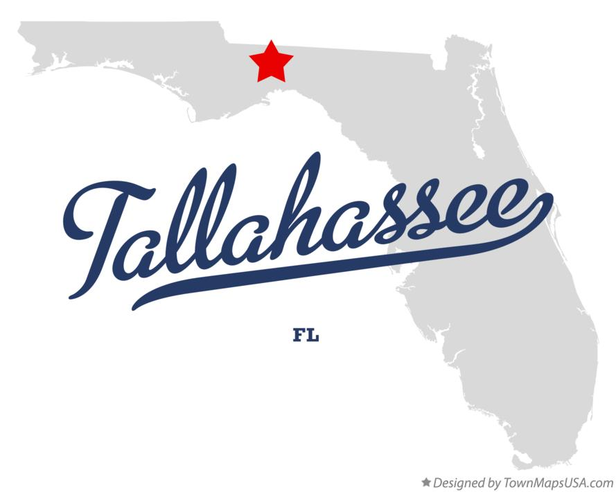 Map of Tallahassee, FL, Florida