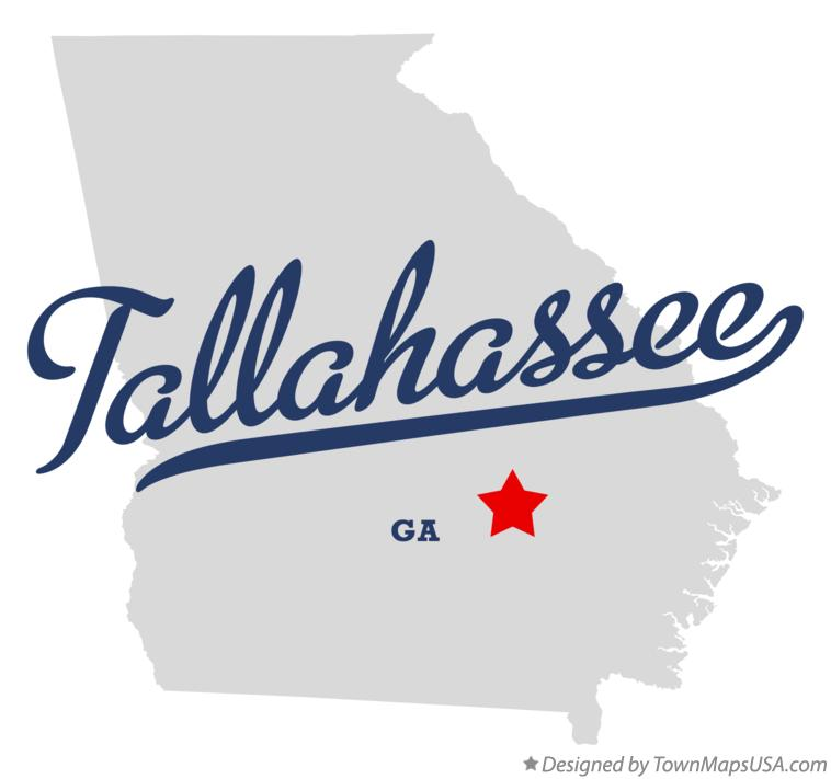 Map of Tallahassee Georgia GA