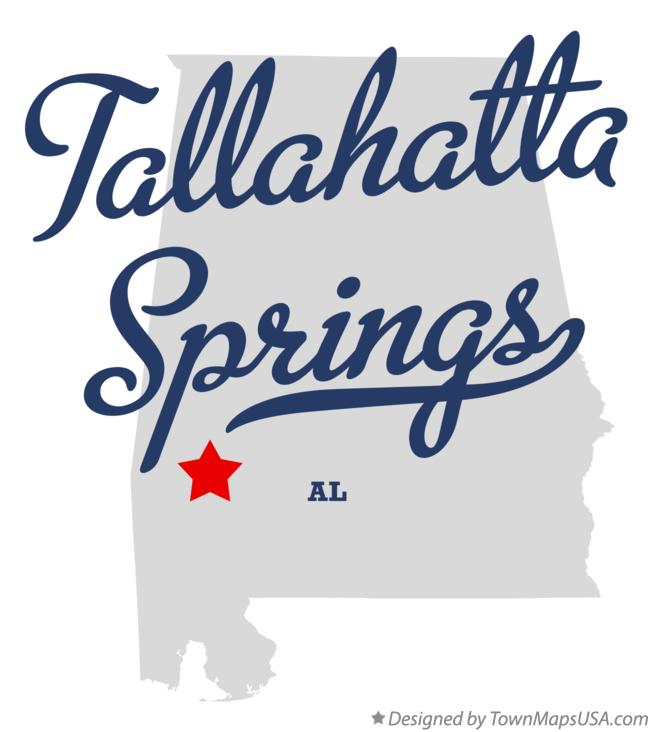 Map of Tallahatta Springs Alabama AL