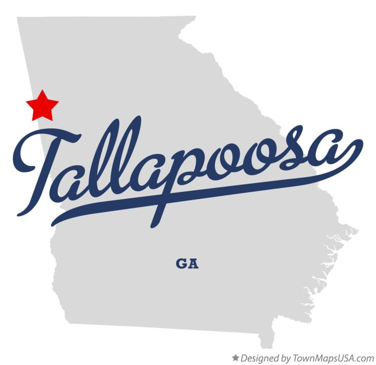 Map of Tallapoosa Georgia GA