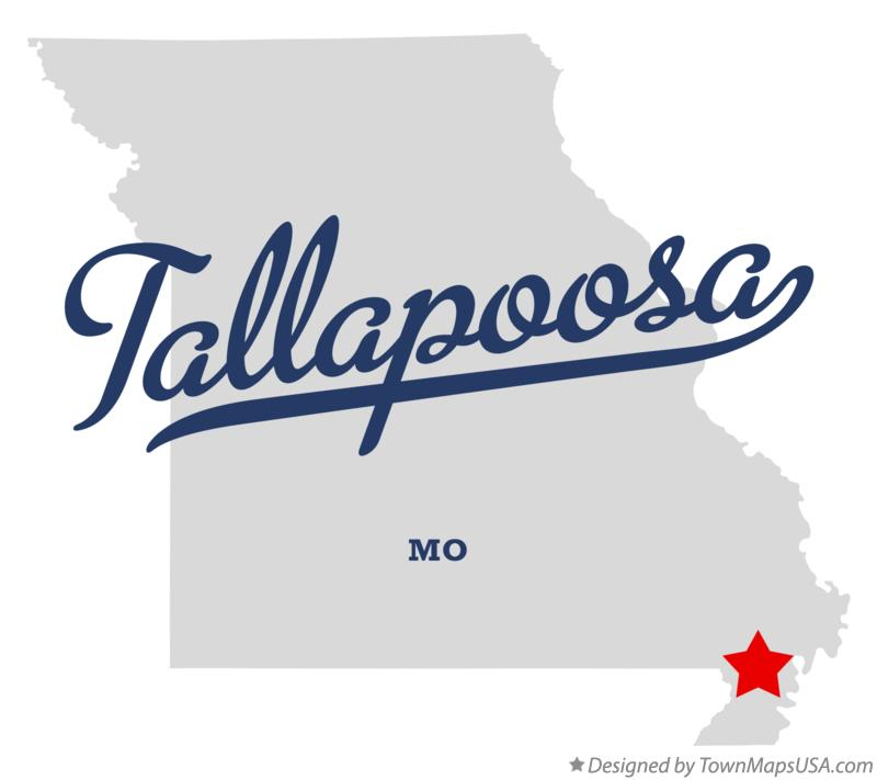 Map of Tallapoosa Missouri MO