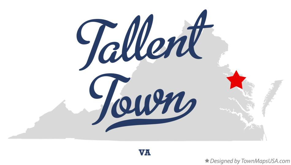 Map of Tallent Town Virginia VA