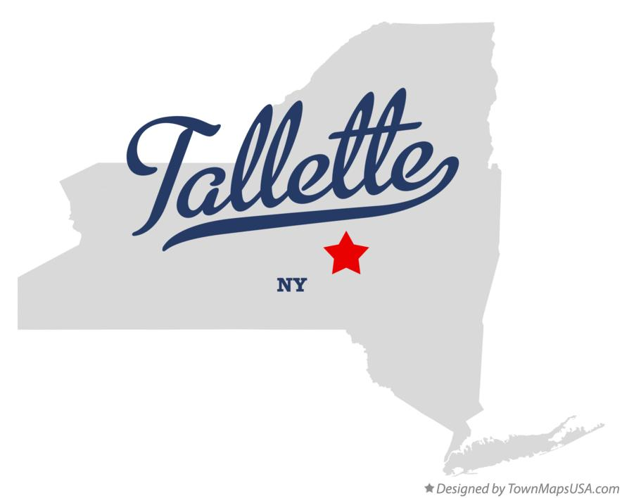 Map of Tallette New York NY