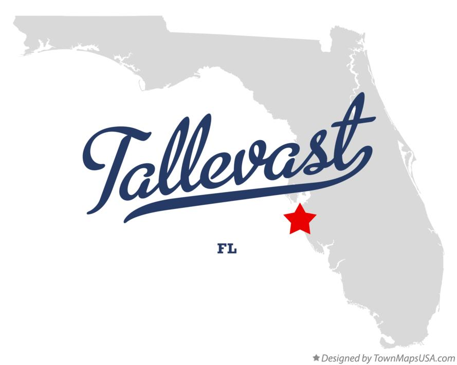 Map of Tallevast Florida FL