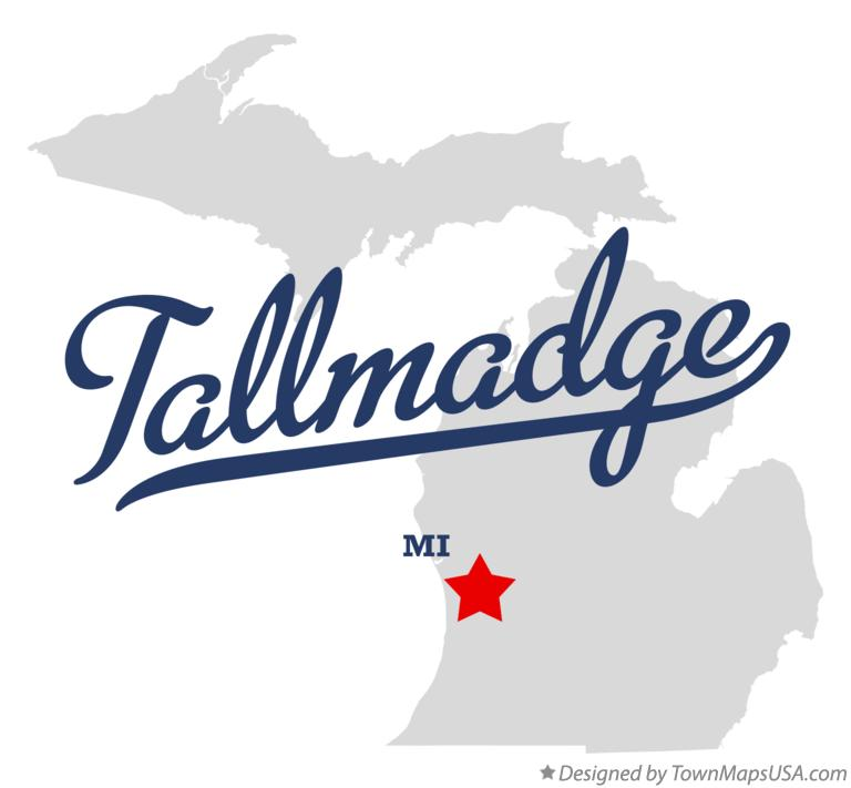 Map of Tallmadge Michigan MI