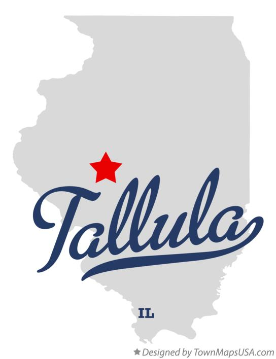 Map of Tallula Illinois IL