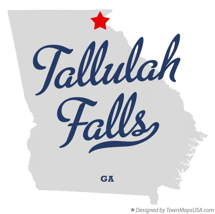 Map of Tallulah Falls Georgia GA
