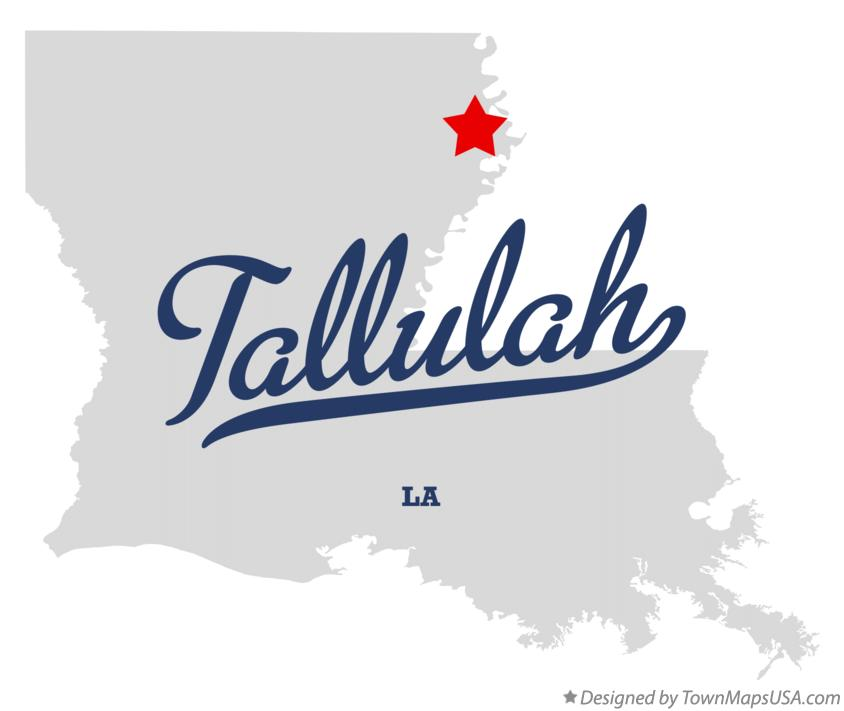 Map of Tallulah Louisiana LA