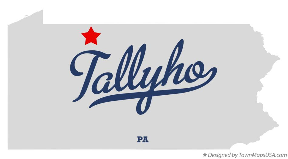 Map of Tallyho Pennsylvania PA