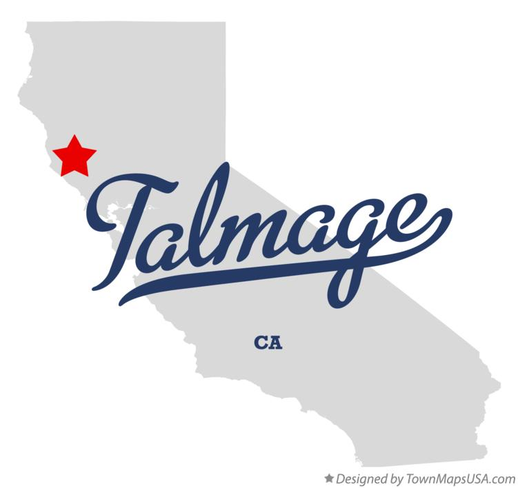 Map of Talmage California CA