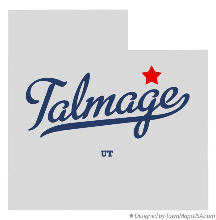 Map of Talmage Utah UT