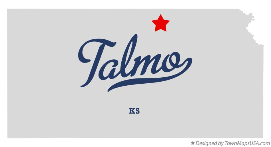 Map of Talmo Kansas KS