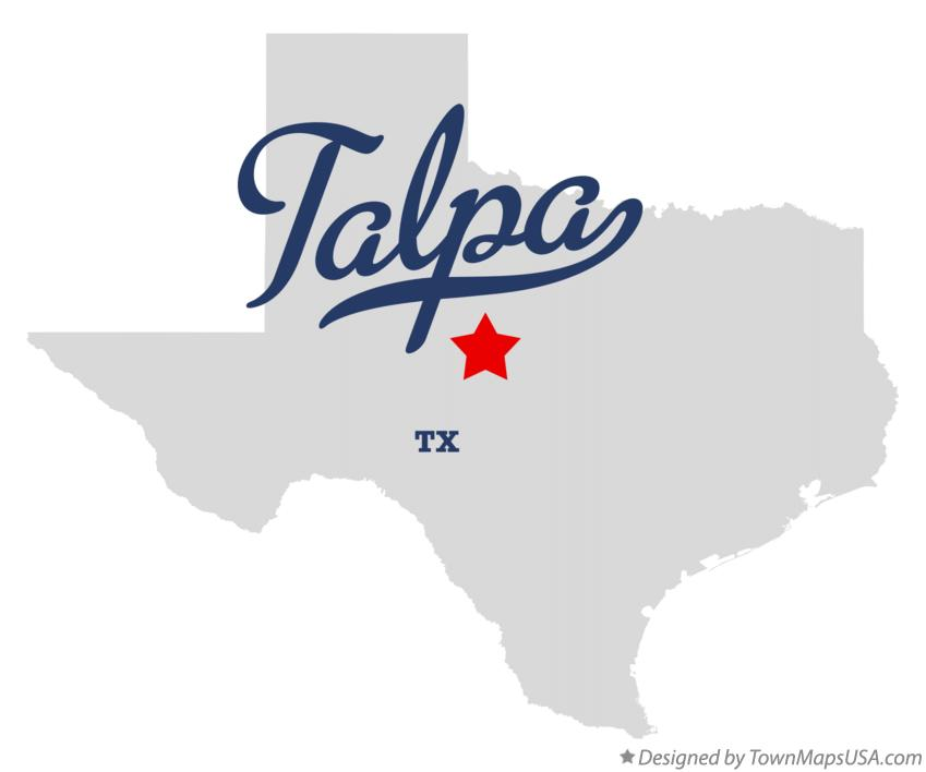 Map of Talpa Texas TX