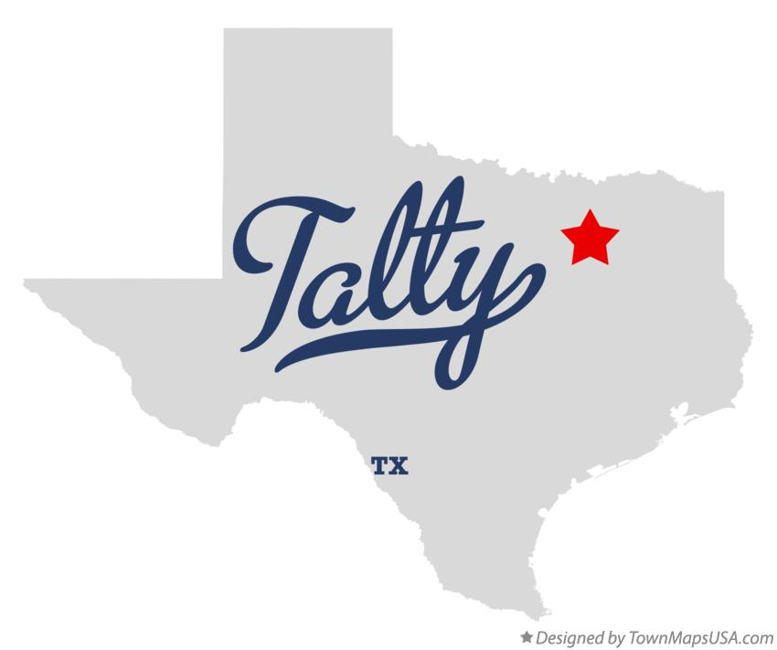 Map of Talty Texas TX