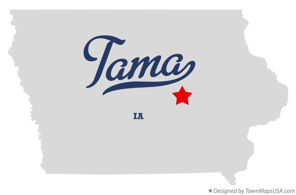 Map of Tama, Tama County, IA, Iowa